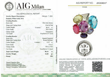 Load image into Gallery viewer, Diamonds & loose Natural Multi color Gemstones Unique RARE Pendant 18k White Gold