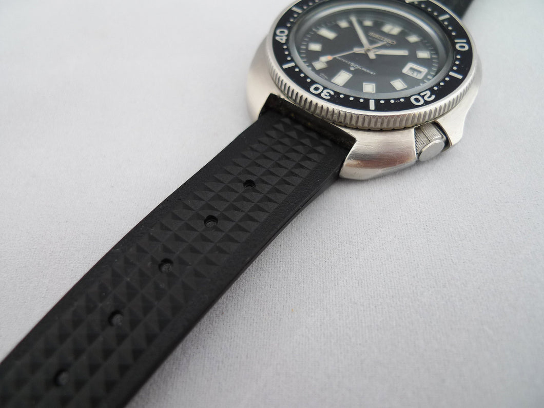 19mm Waffle Strap for 6105 Seiko Diver