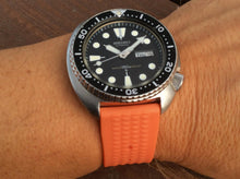 Load image into Gallery viewer, ORANGE Straight Waffle Strap (20/22mm) *limited edition*
