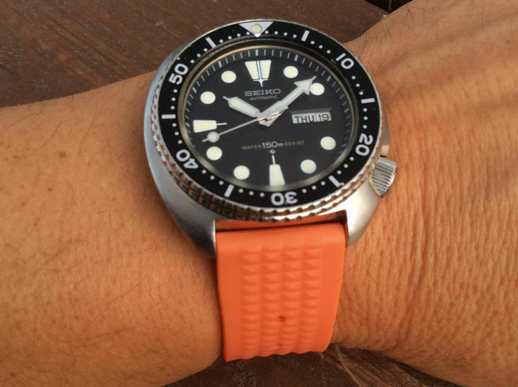 ORANGE Straight Waffle Strap (20/22mm) *limited edition*