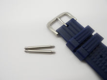 Load image into Gallery viewer, BLUE Straight Rubber Waffle Strap (20/22mm)