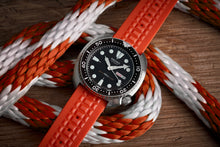 "Load image into Gallery viewer, Orange ""Chocolate Bar"" Strap for SEIKO Divers (19mm, 20mm, 22mm)"