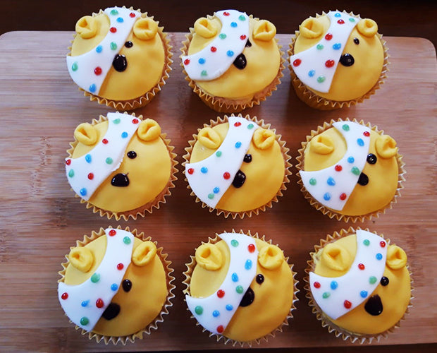 Yummy Pudsey Bear Cupcakes