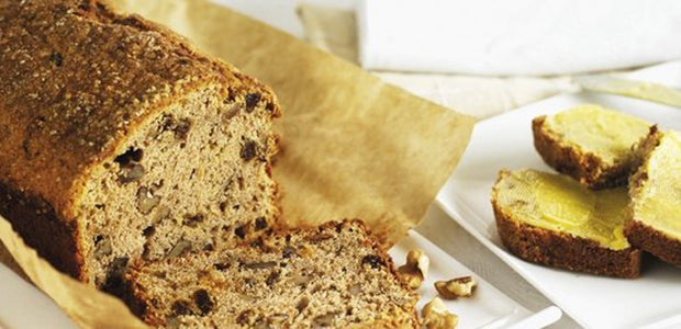 Banana & Walnut Loaf with Brown Sugar Butter