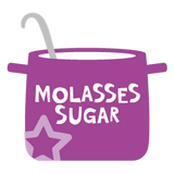 Cooking pot with molasses