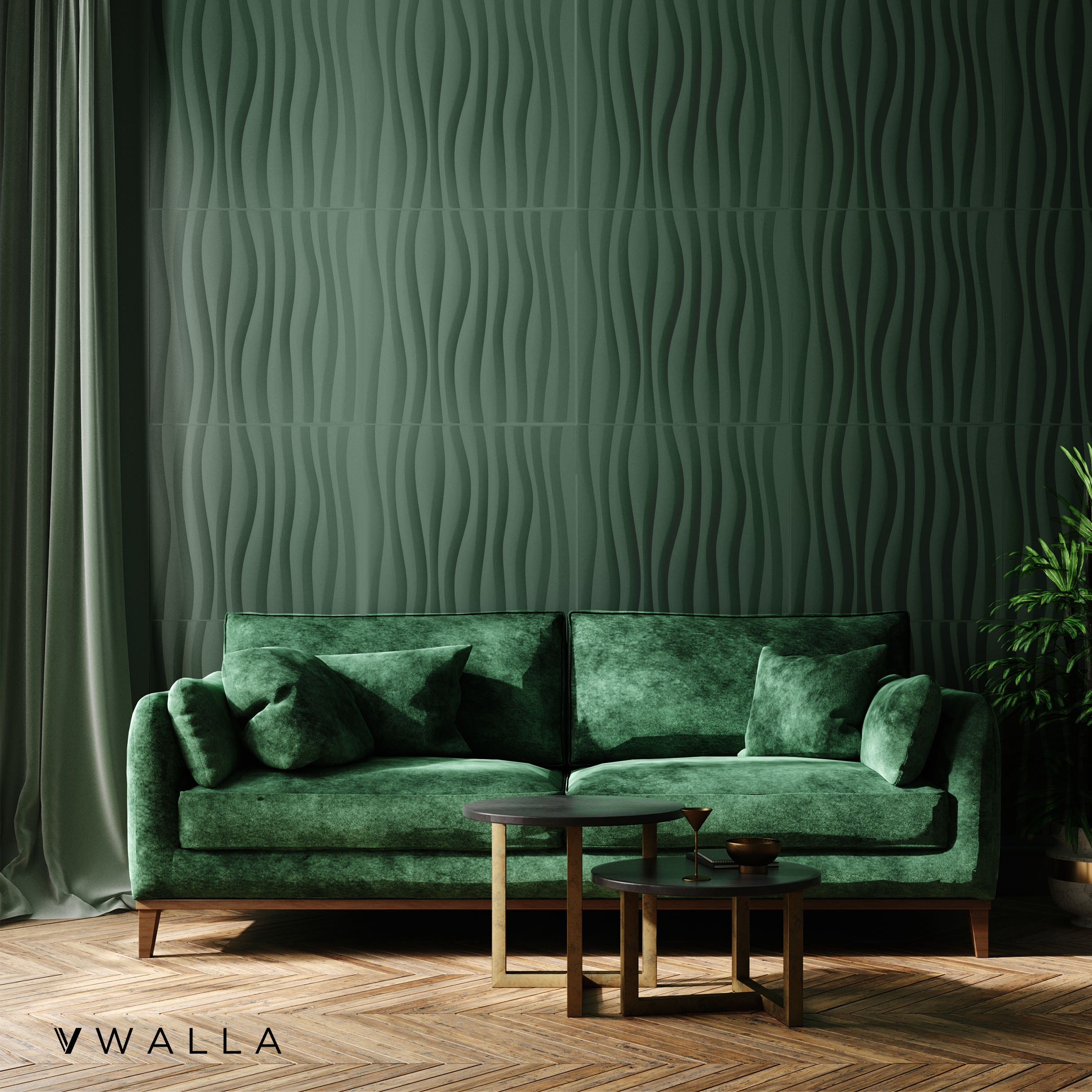 3D Wall Panel - Waves