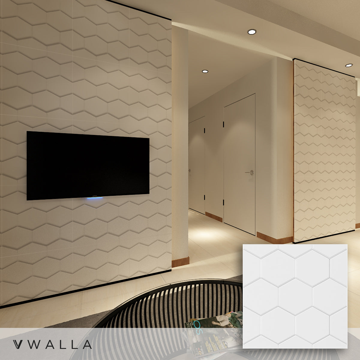 3D Wall Panels - Honeycomb