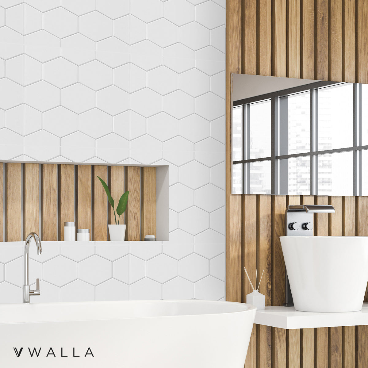 3D Wall Panel - Honeycomb