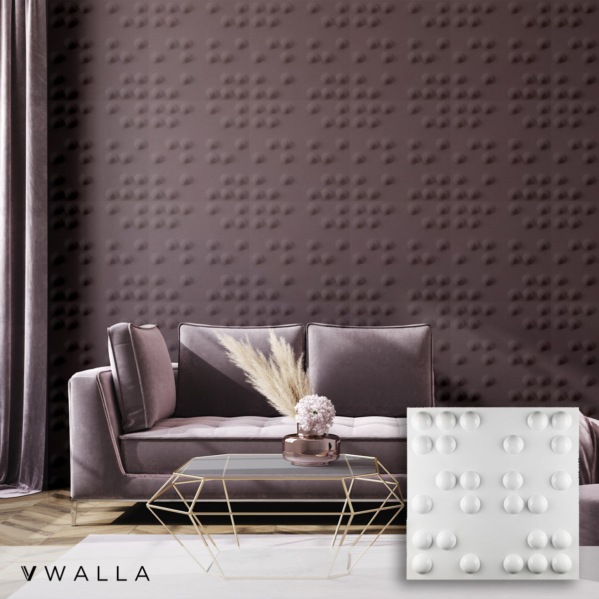 3D Wall Panel - Braille