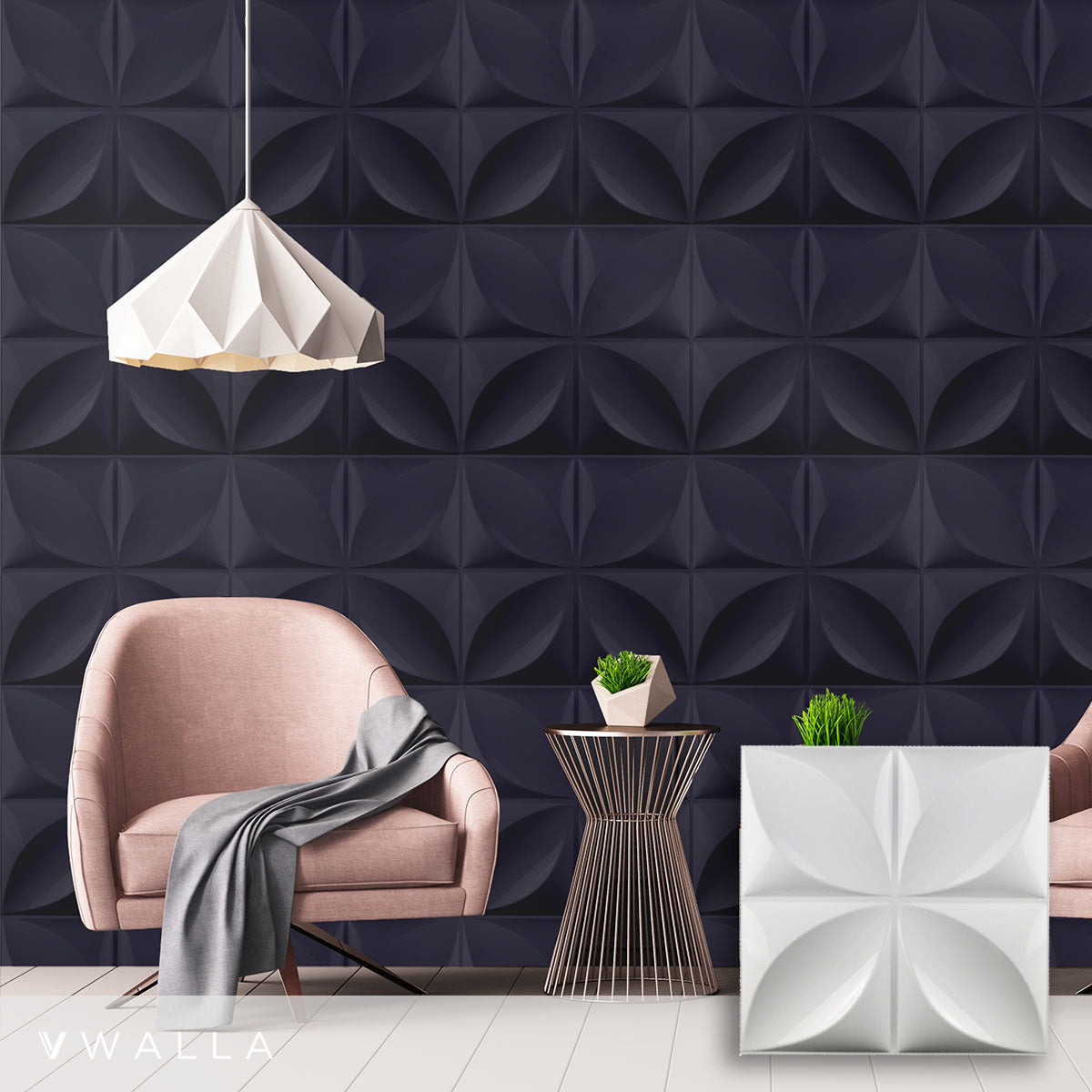 3D Wall Panel - Bloom