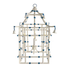 Load image into Gallery viewer, Blue and White Toile Pagoda Lantern