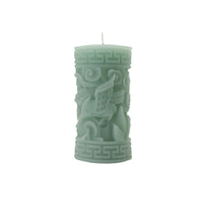 Load image into Gallery viewer, Greek Key Pillar Candle, Pink