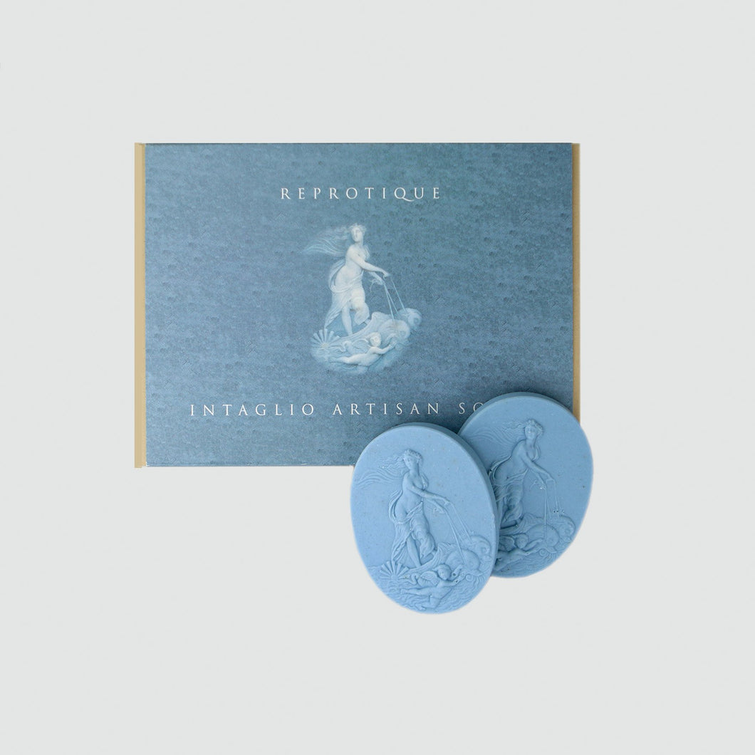 Venus Intaglio Soap Set- Wedgewood Blue