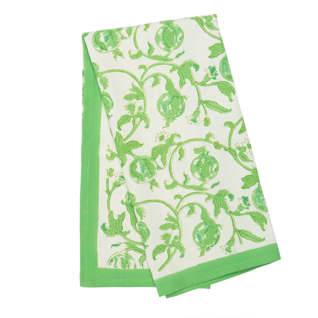Granada Tea Towel, Parrot Green