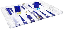 Load image into Gallery viewer, Lucite Backgammon Set, Blue