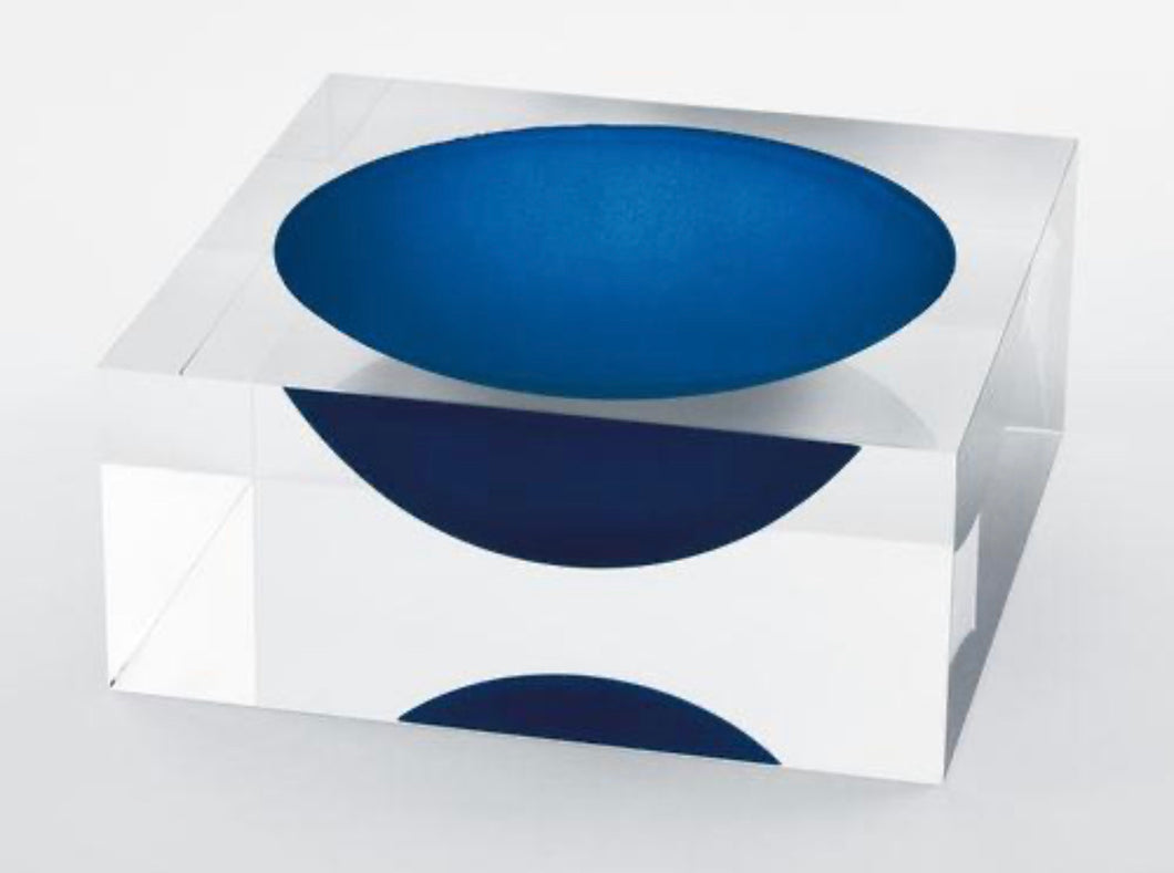 Lucite Candy Bowl, Blue