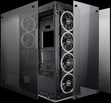 Load image into Gallery viewer, darkFlash Phantom - Black ATX Mid-Tower Case - USB 3.0 - Tempered Glass - 6x 120mm RGB Fans