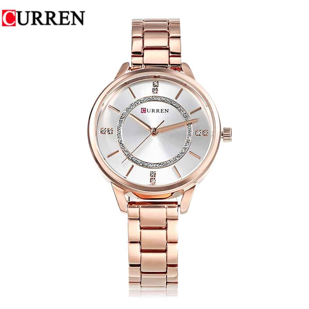 Damen Curren Uhr Rose-Stone