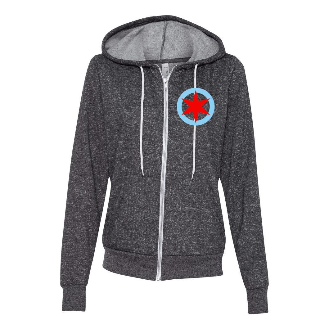 Pony Chicago Star Unisex Full-Zip Hoodie - The Pony Shop