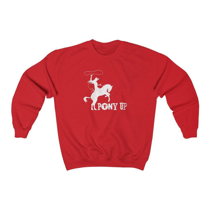 Red pony up sweatshirt