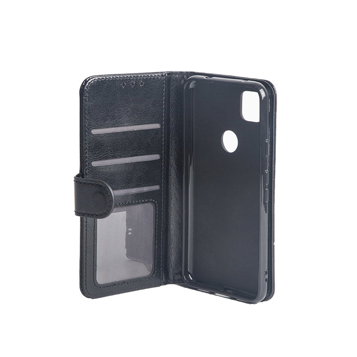Wisecase Googel Pixel 4a Wallet PU Case Black