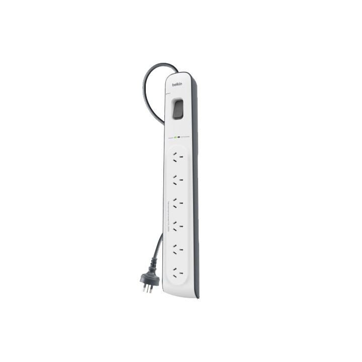 Belkin 6-Outlet Surge Protection Strip with 2M Power Cord
