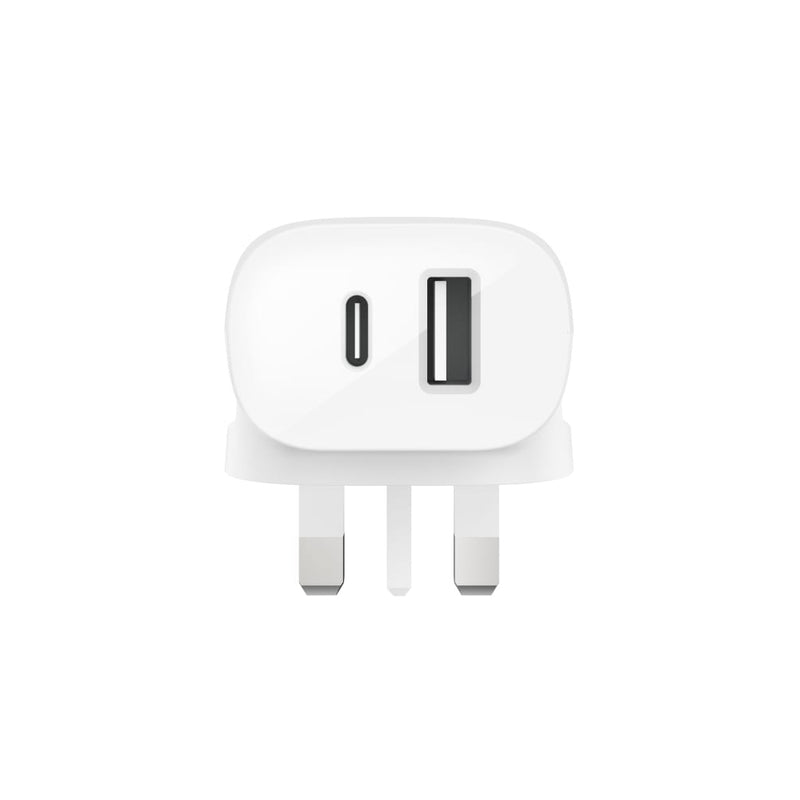Belkin 20W USB-C PD + 12W USB-A Wall Charger Universally compatible - White