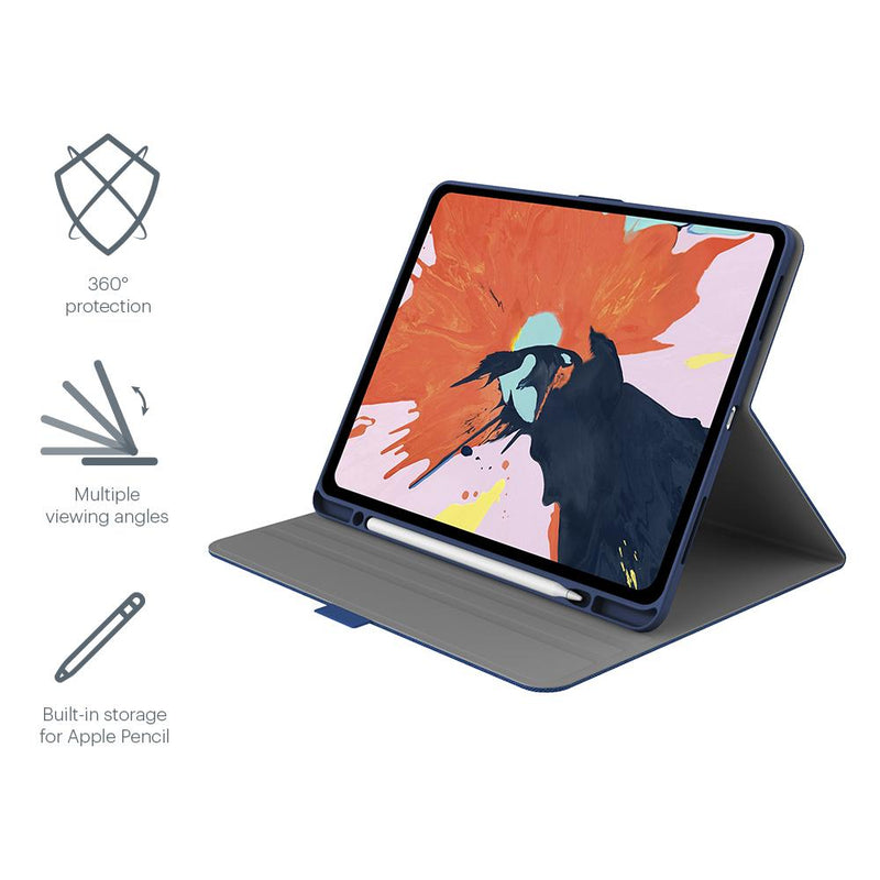 Cygnett TekView with Apple pencil holder TPU shell - Navy/ Blue - iPad Air 4 10.9/Pro 11