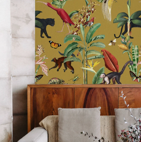 Wallpaper - KINGDOM ANIMALIA gold ochre