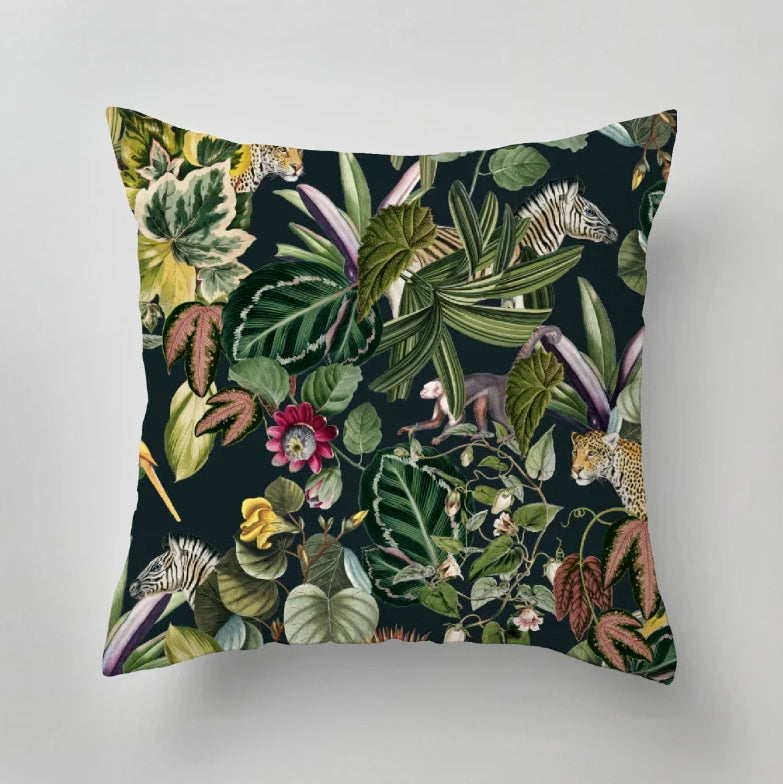 Indoor Pillow - BOLD BOTANICS - dark