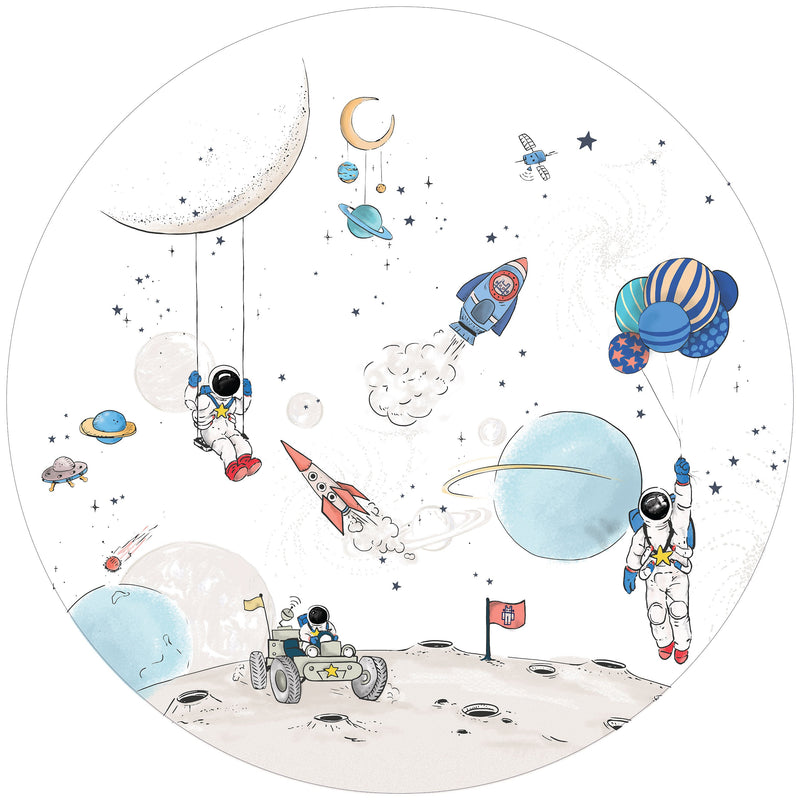 Round wall sticker - Into the Galaxy Light