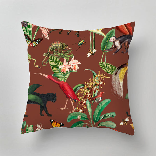 Indoor Pillow - KINGDOM ANIMALIA burnt sienna