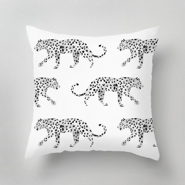Indoor Pillow - LEOPARD black/white