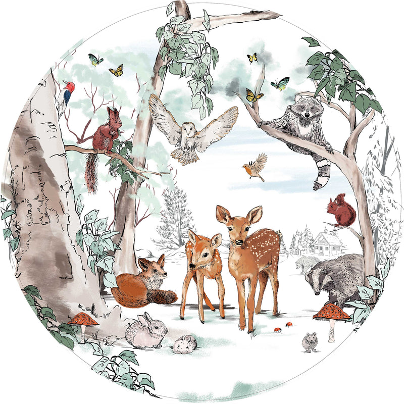 Ronde wandsticker - Magical Forest