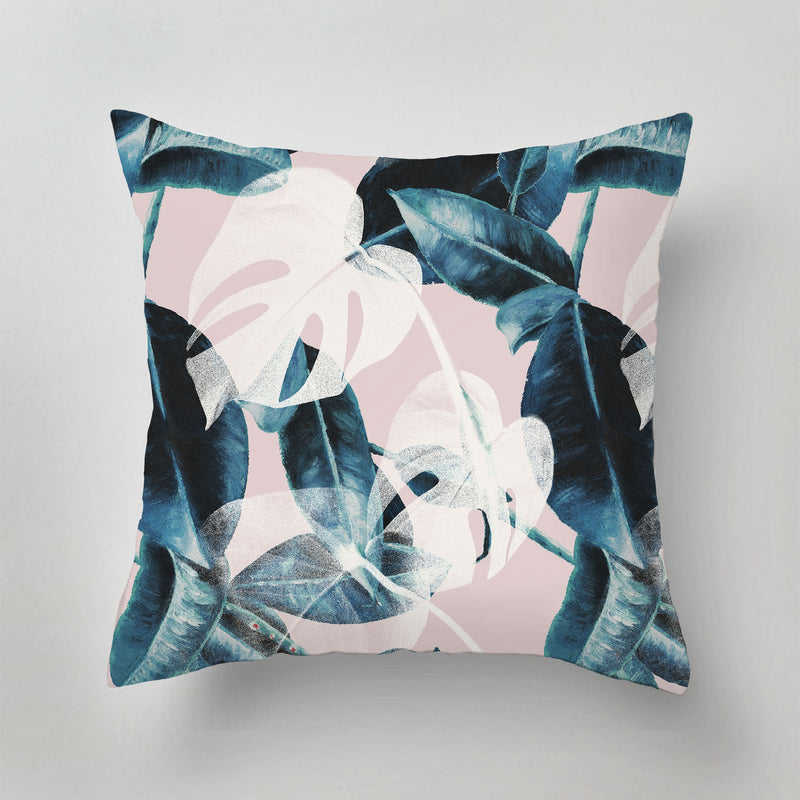 Indoor Pillow - PINK LEAVES