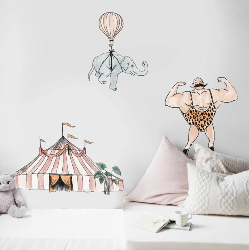 Set of 3 wall stickers Cirque du Fantasy