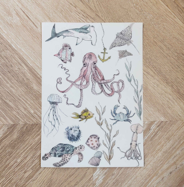 Stickervel - UNDERWATER WONDERS