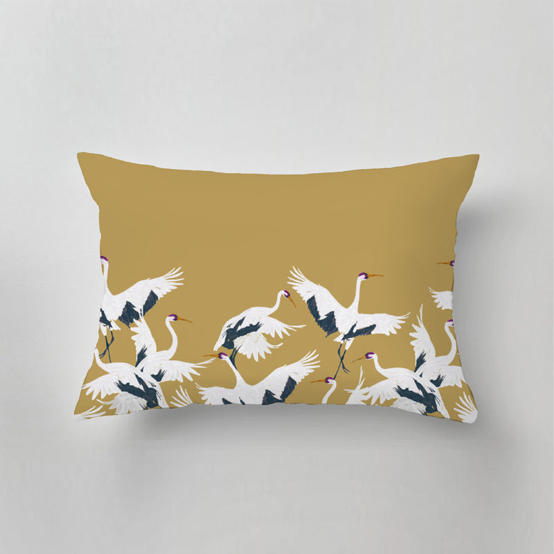 Outdoor Pillow - STORK - gold