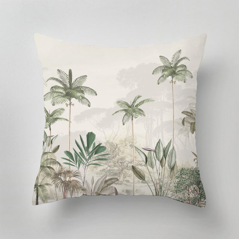Indoor Pillow - TROPICAL WILDERNESS - beige/green