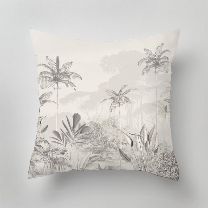 Outdoor Pillow - TROPICAL WILDERNESS - beige
