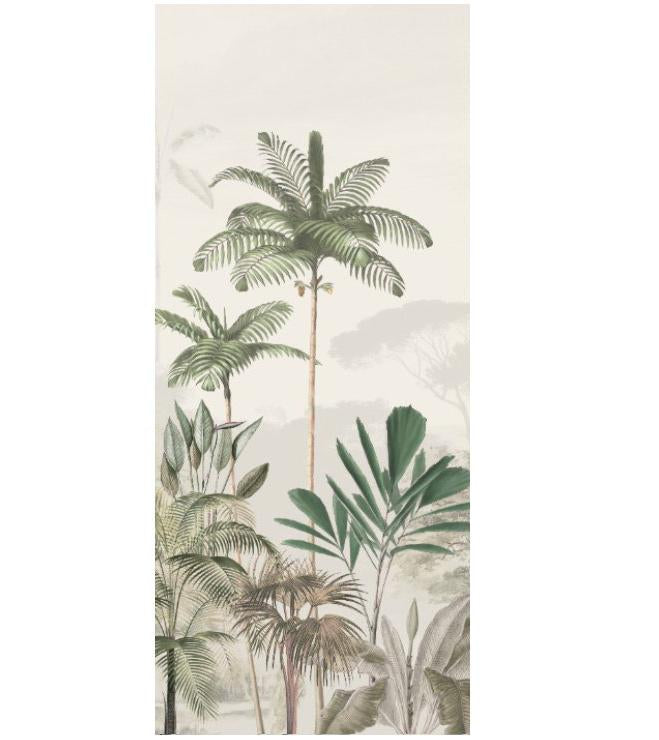 Jungle Wallpaper - Full wall sized image - TROPICAL WILDERNESS beige/green