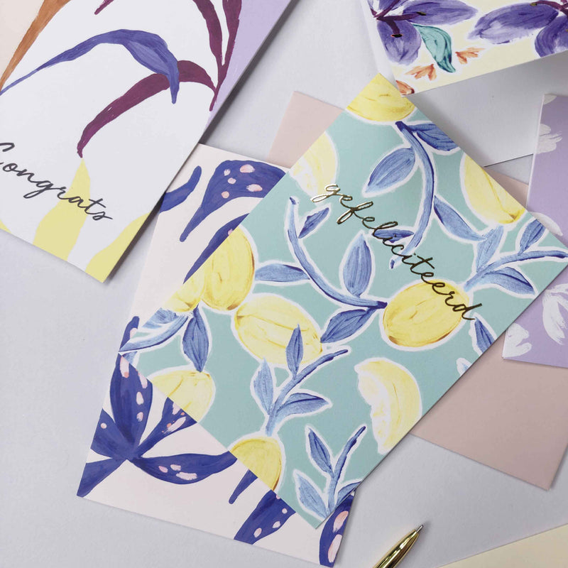 Set 11 Greeting cards - ABSTRACT & ARTY BOTANICS