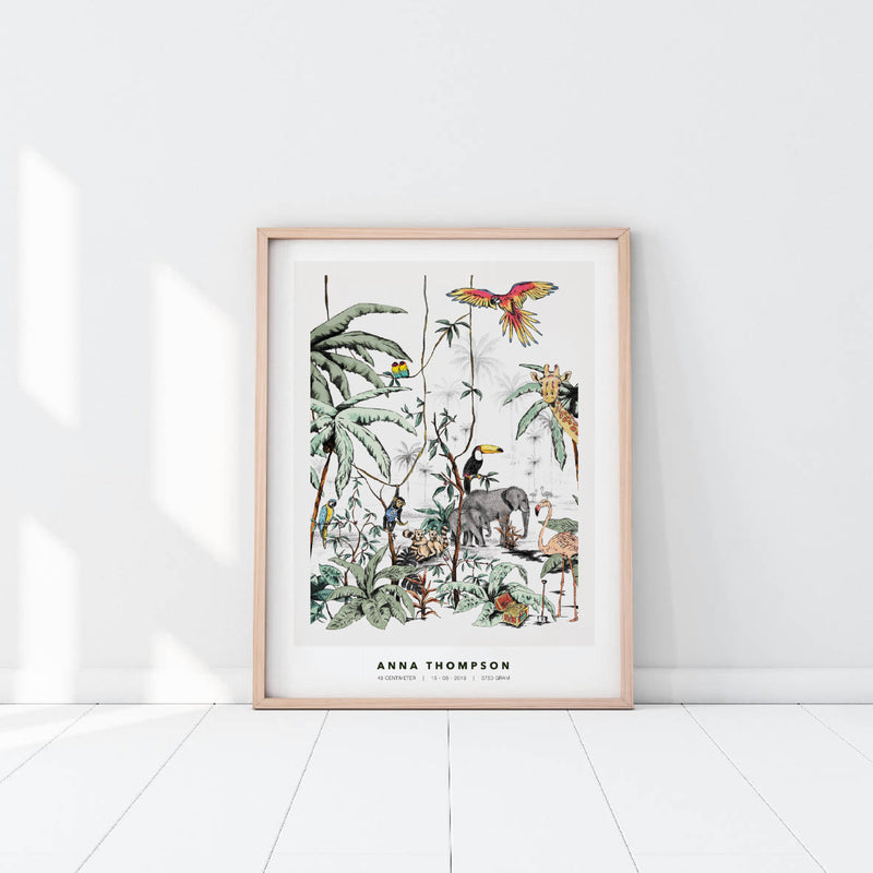 Personalized Poster - Jungle Tonal