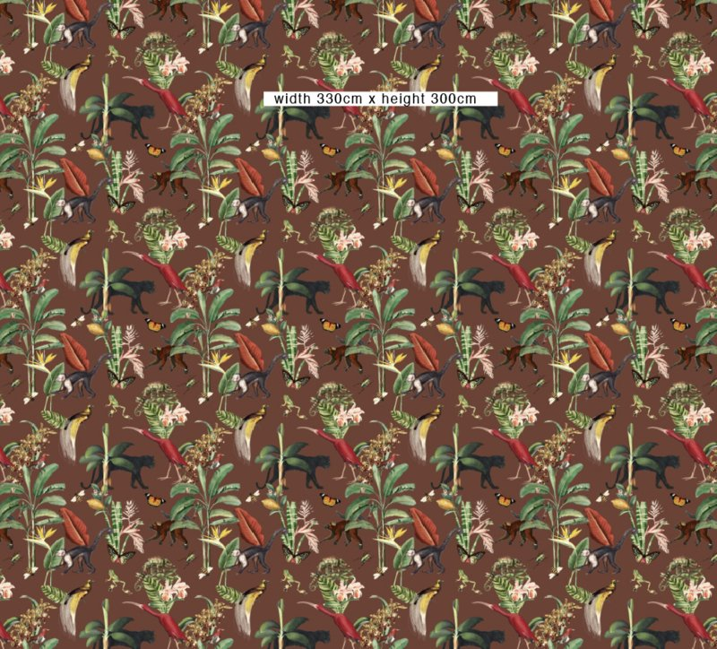 Wallpaper - KINGDOM ANIMALIA - burnt sienna