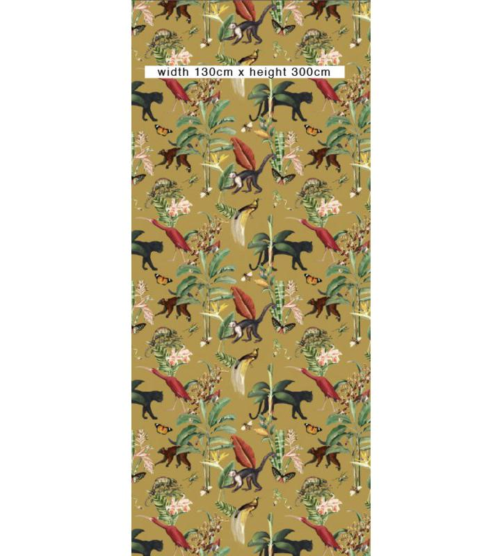 Behang - KINGDOM ANIMALIA - gold ochre