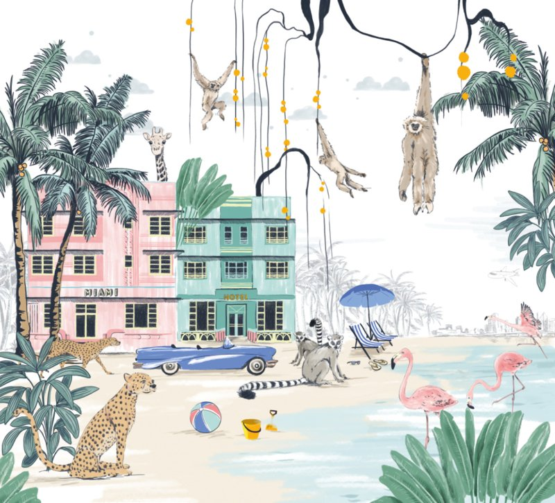 Jungle Wallpaper - MIAMI BEACH