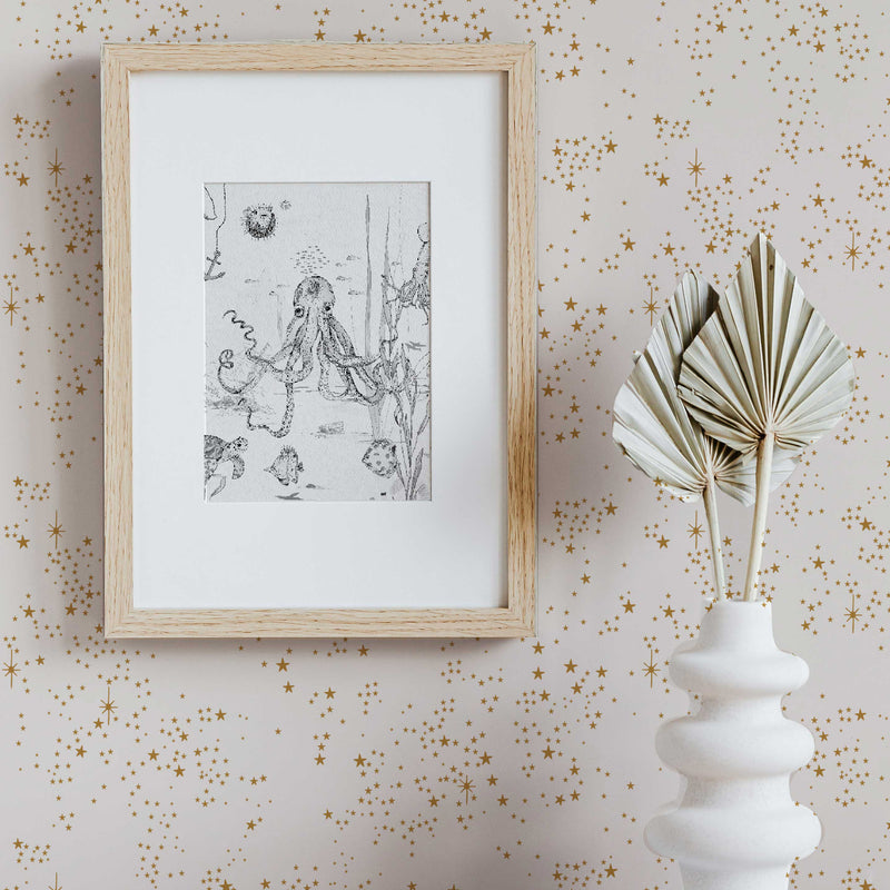 Starry Wallpaper - STARDUST off white/gold