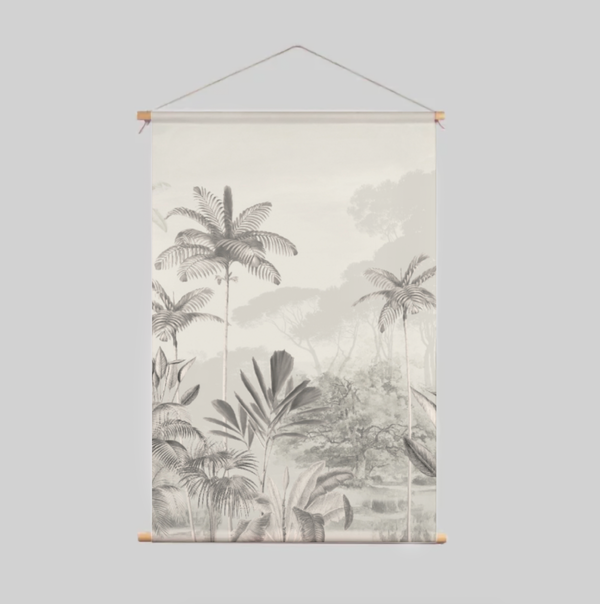 Textile Poster - Tropical Wilderness - Beige