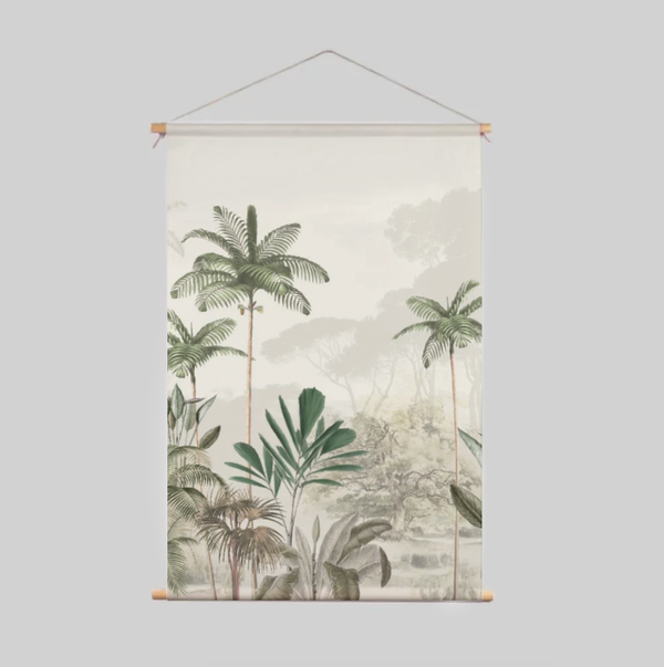 Textile Poster - Tropical Wilderness - Beige/Green