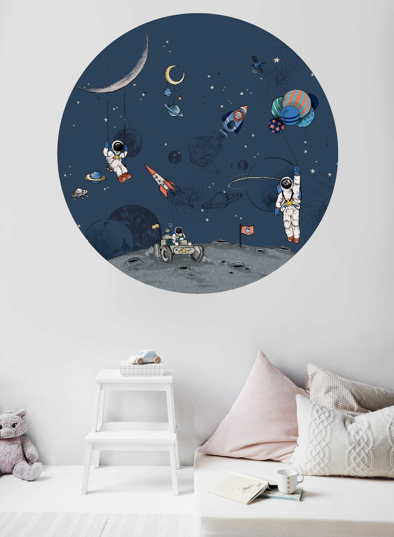Round wall sticker - Into the Galaxy Dark